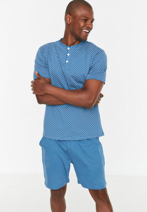 Geo Print Pyjama Set