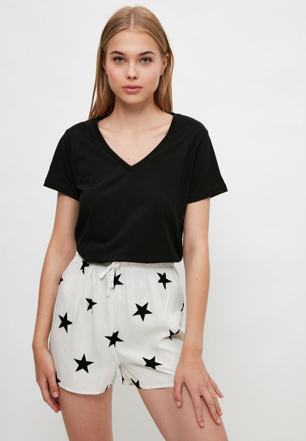 2 Pack Printed Mini Shorts