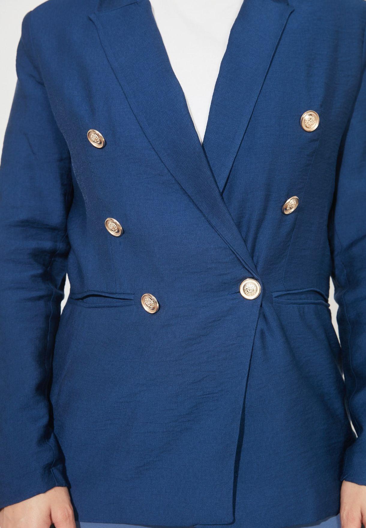 Button Detail Tailored Blazer