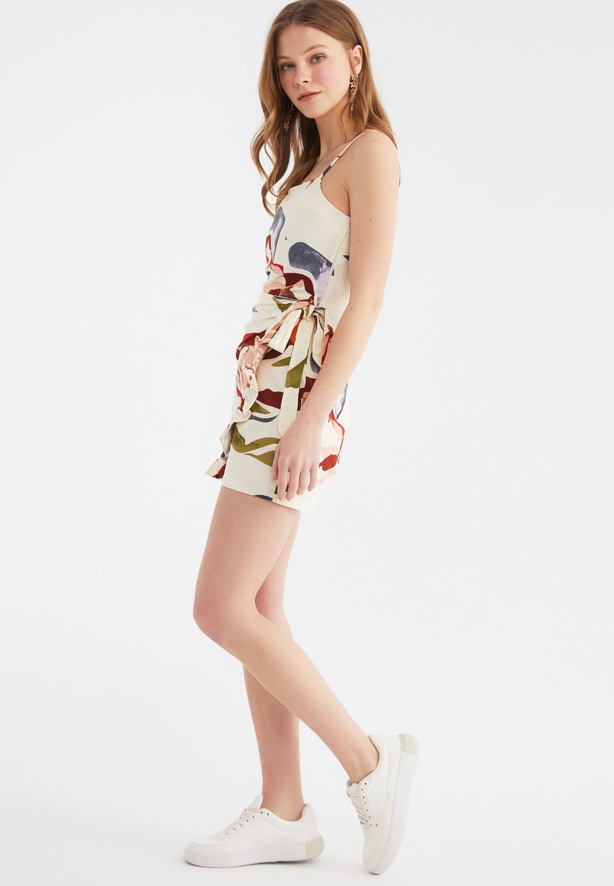 Printed Knitted Playsuit