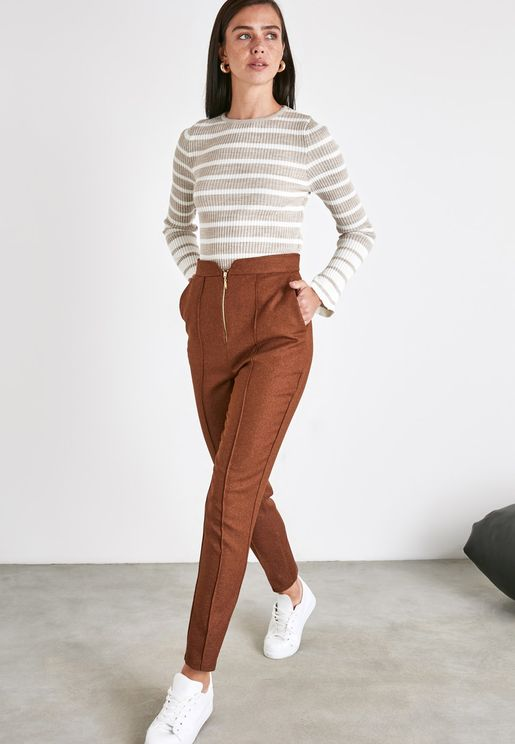 Zip Detail Pants