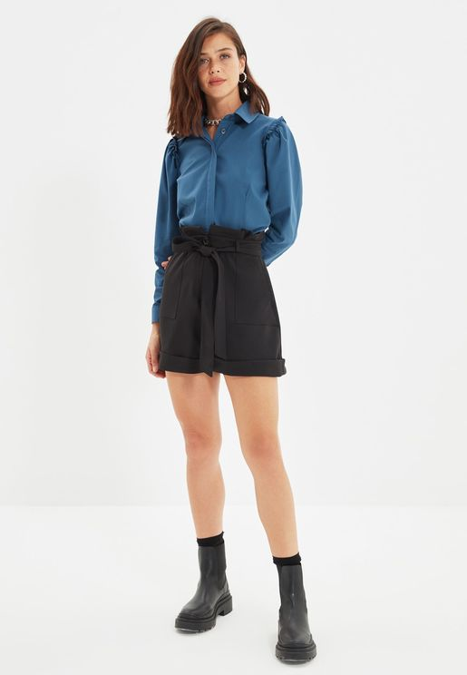 Knitted Mini Shorts