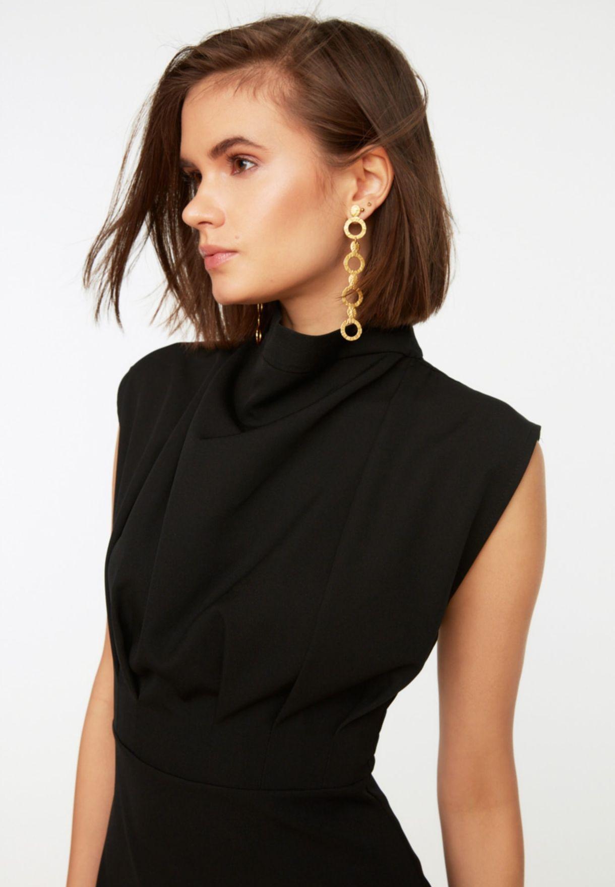 Ruched Trim Bodycon Dress