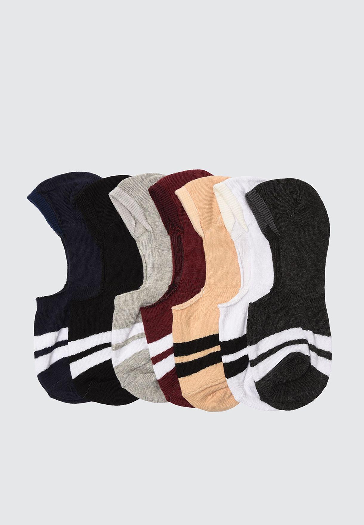 7 Pack Assorted Socks