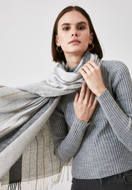 Striped Textured Scarf