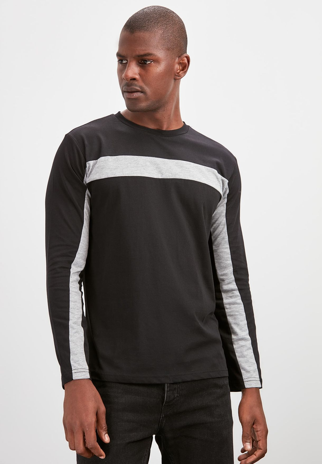 Trendyol Paneled Crew Neck T-shirt