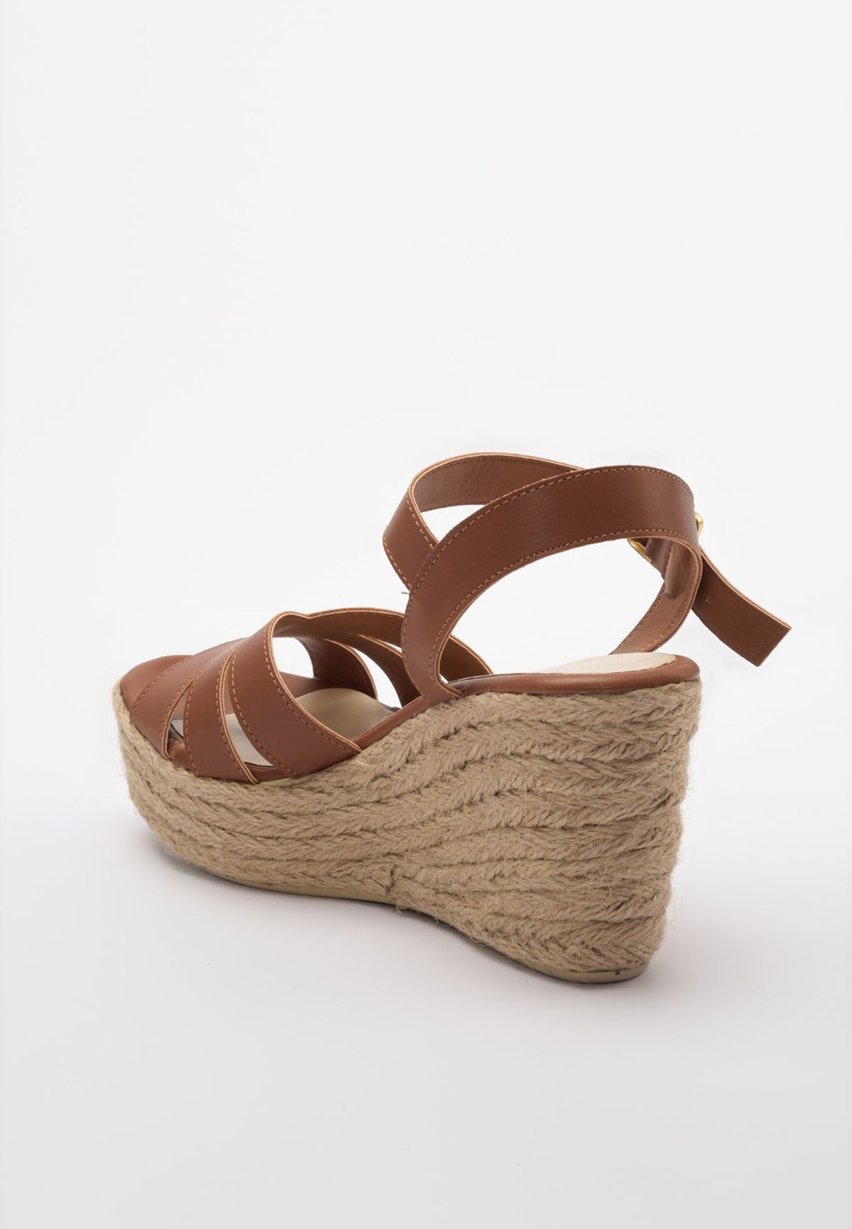 Multi Strap Wedge Sandal