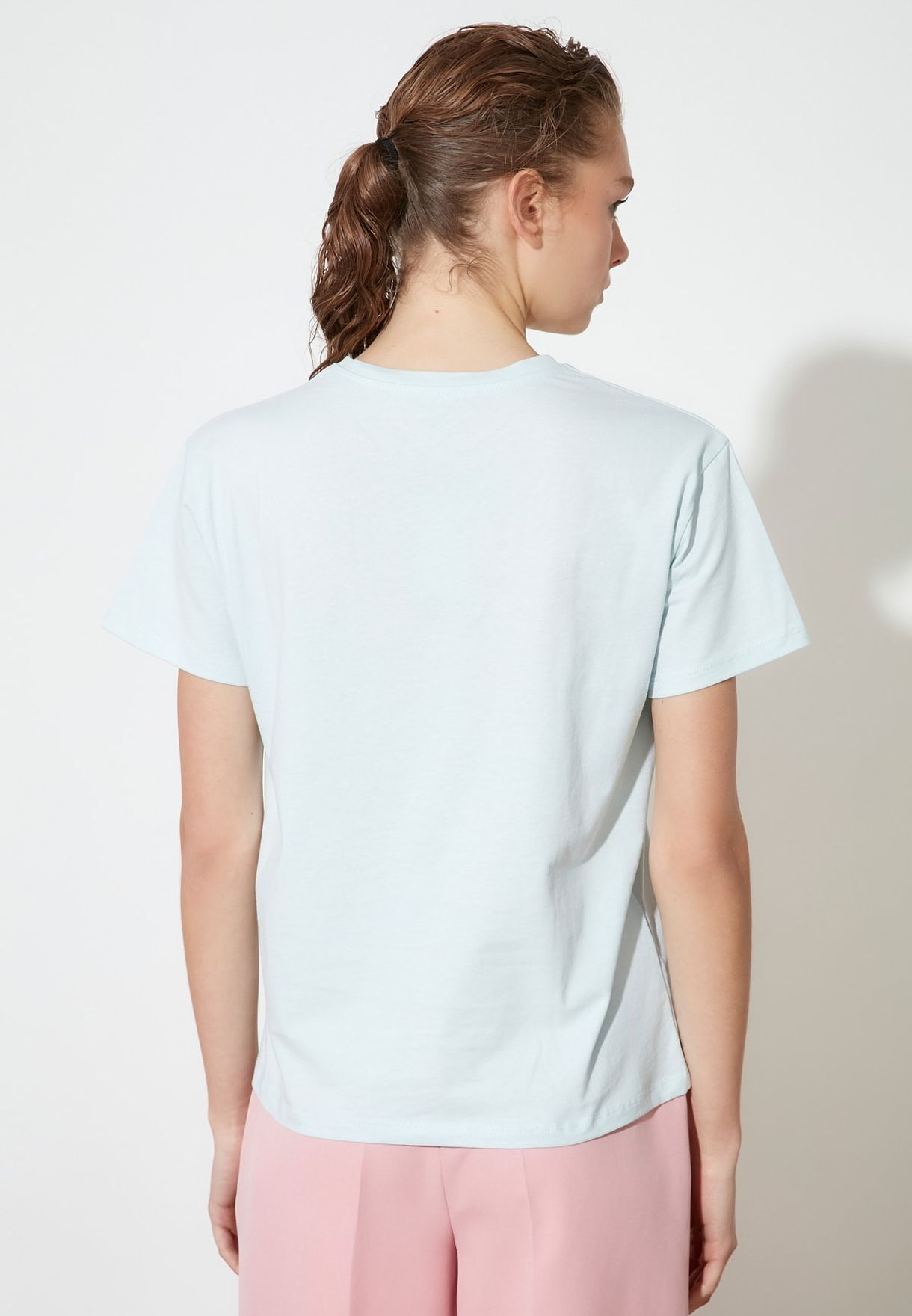 Crew Neck Knitted T-Shirt