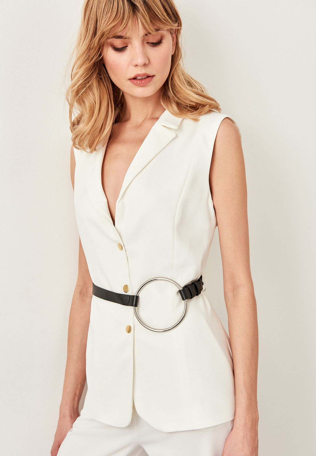 3899a2c29c8 Shop Trendyol black Black Ring Detailed Waist Belt TWOSS19PL0027 for Women  in Kuwait - 27680ACBEIJP