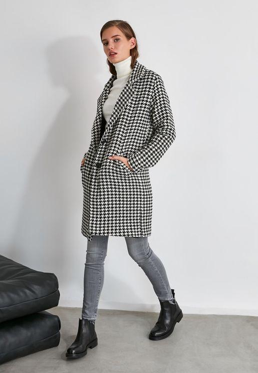 Checked Longline Coat