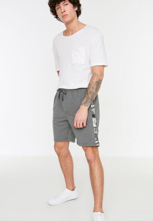 Camo Side Stripe Shorts