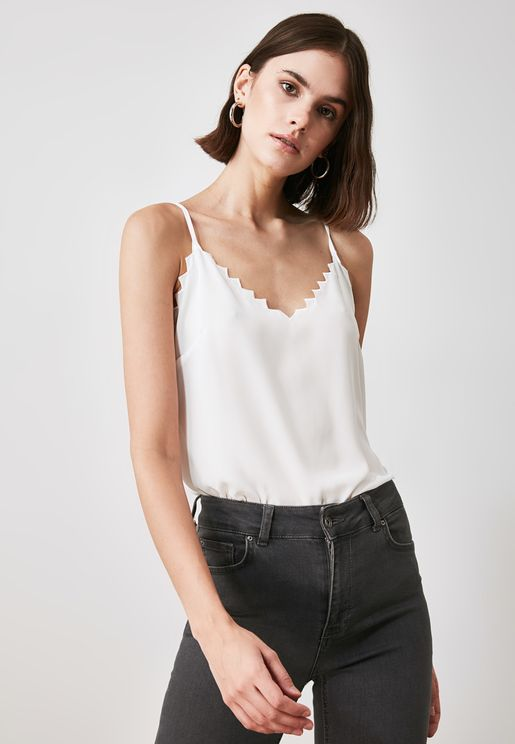 Laser Cut Cami Top