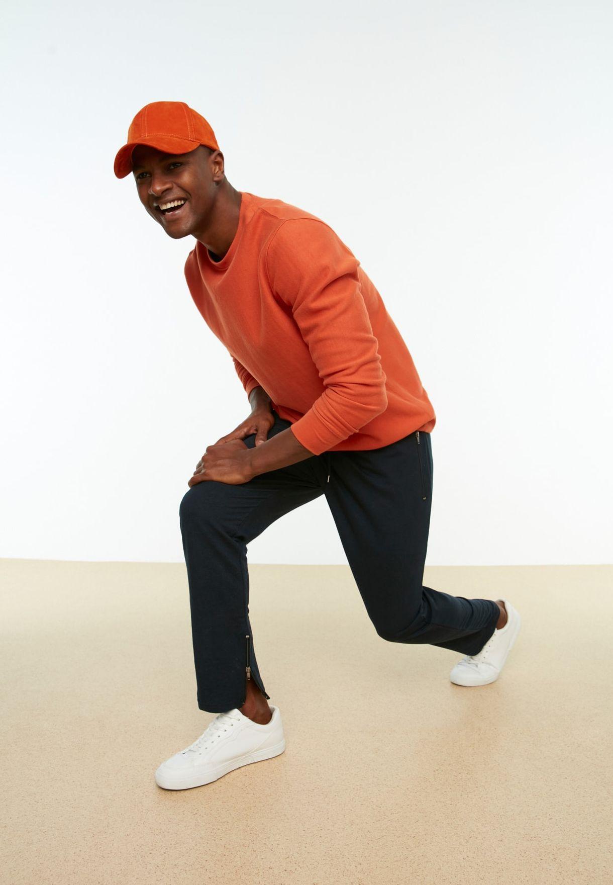 Drawstring Zip Detail Sweatpants