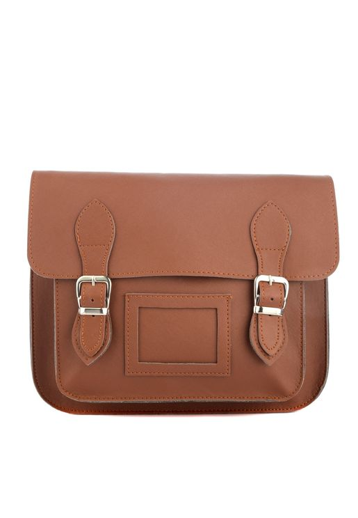 Buckle Detail Flap Over Crossbody