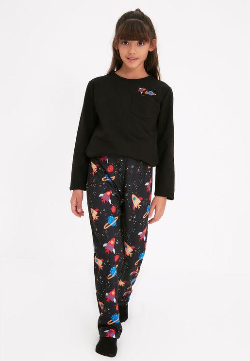 Kids Space Print Pyjama Set