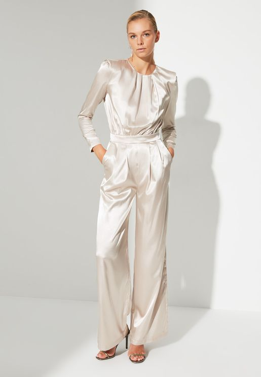 Wide Leg Knitted Jumpsuit