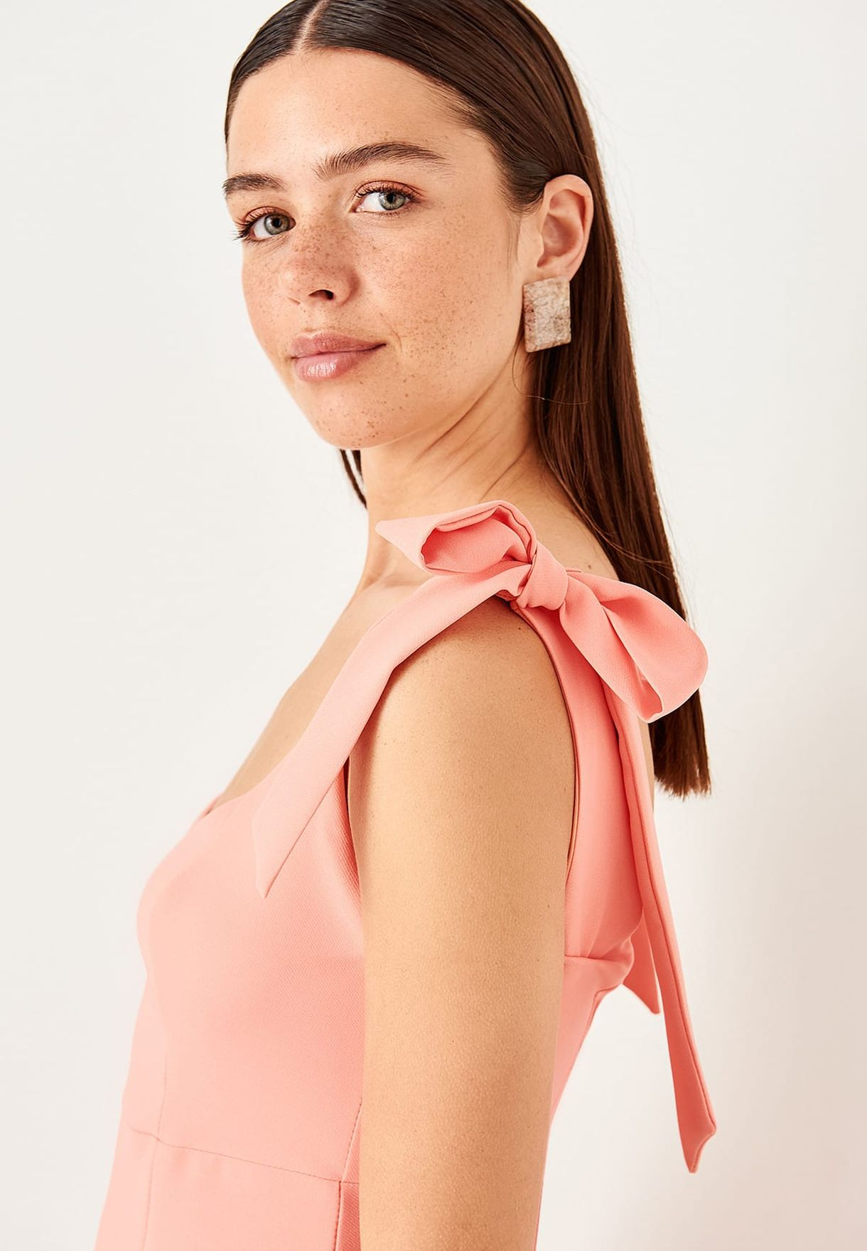 Trendyol Tie Shoulder Dress - Fashion