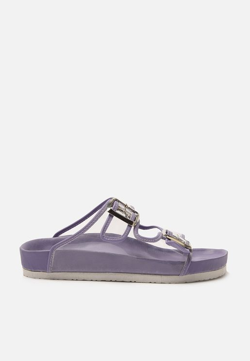 Buckle Detail Flat Sandals