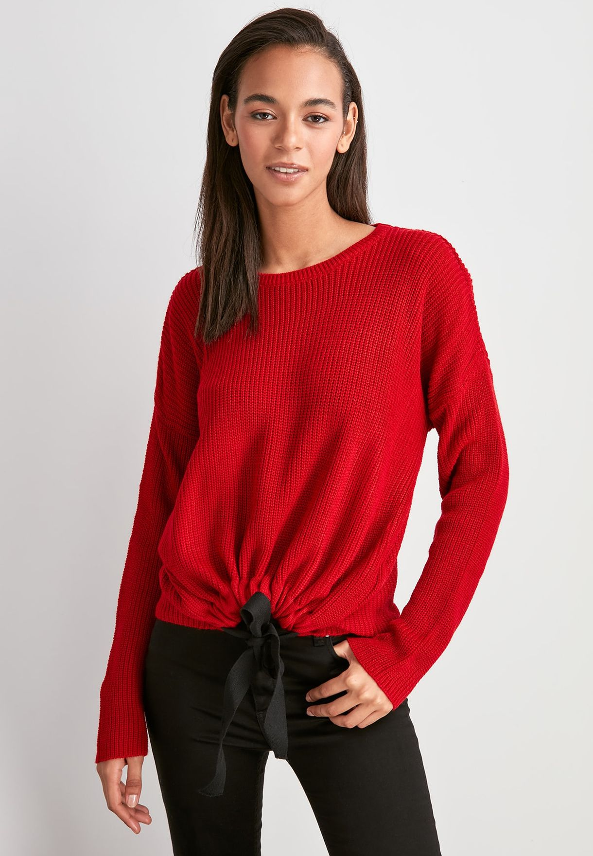 Front Knot Detail Sweater