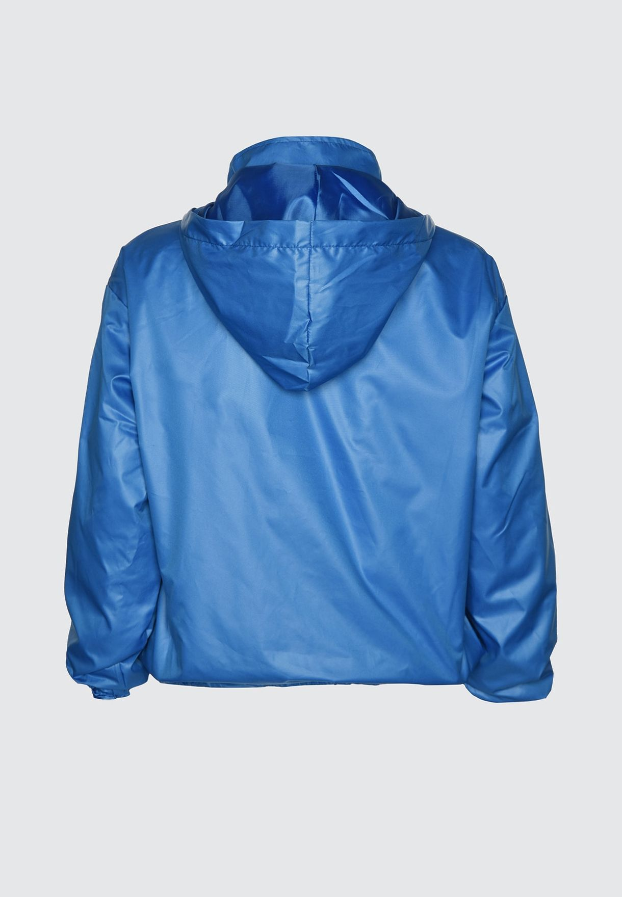 Button Detail Hooded Coat