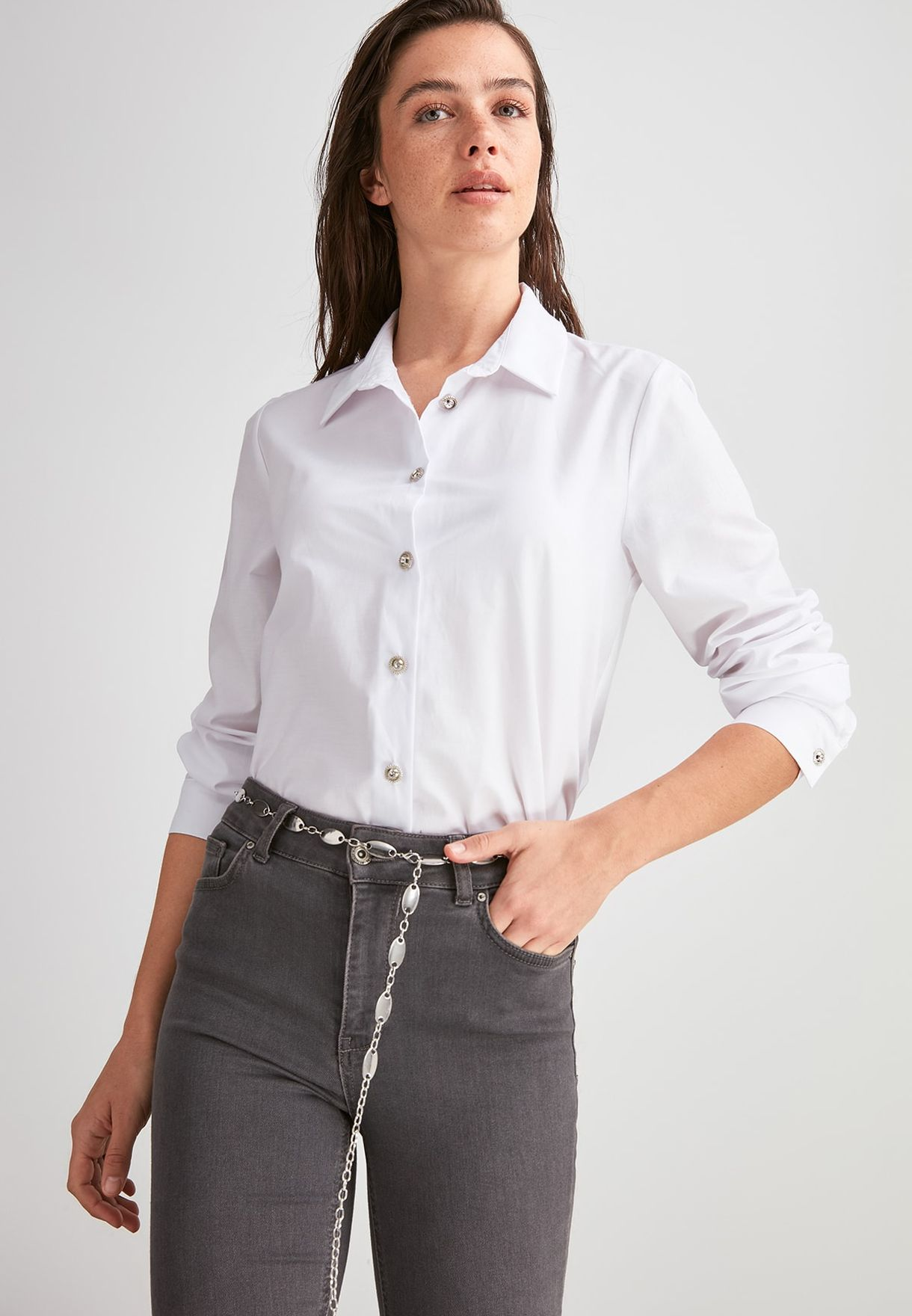 Button Down Tailored Shirt.