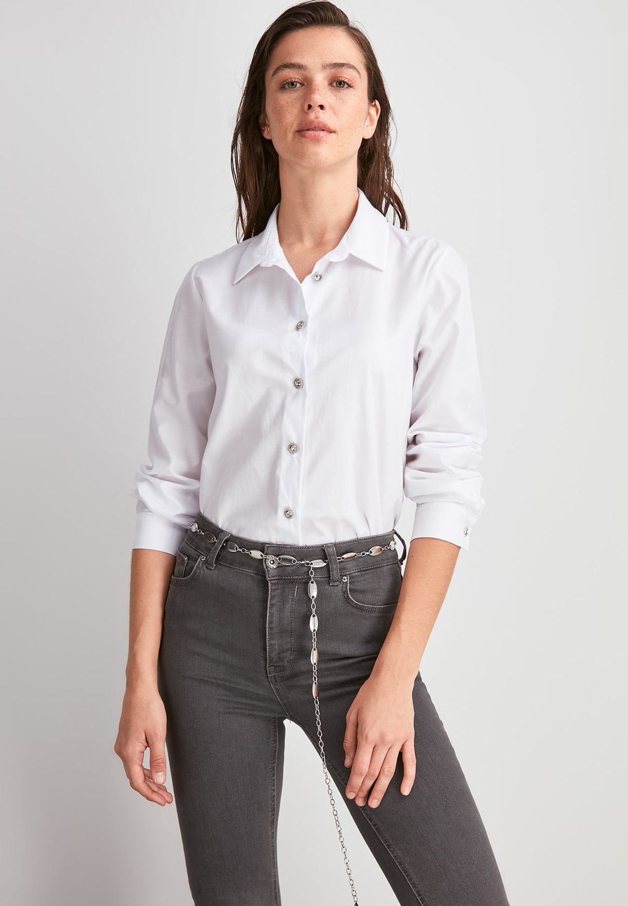 Button Down Tailored Shirt.
