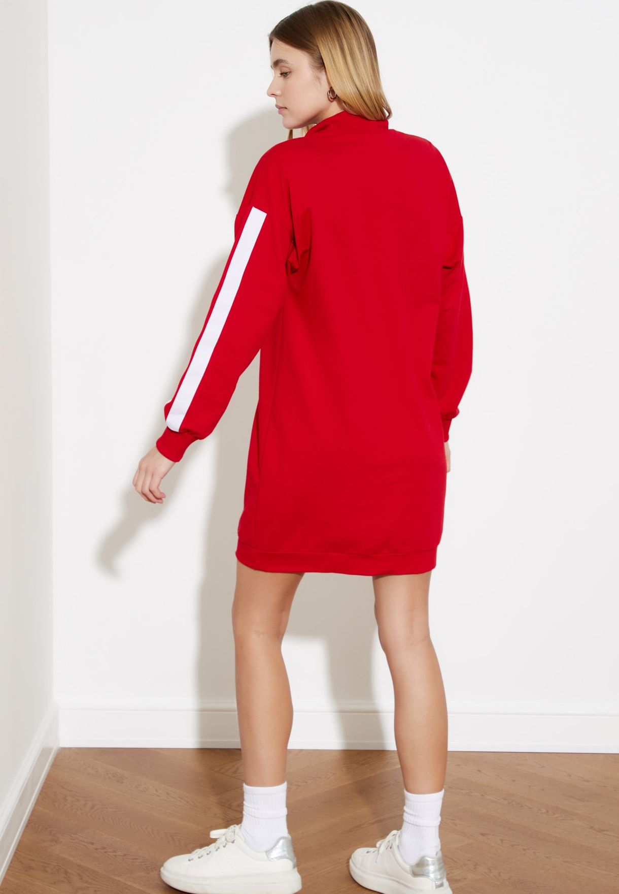 Colorblock Knitted Dress