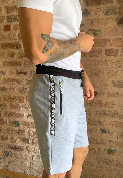 Drawstring Zip Pocket Shorts