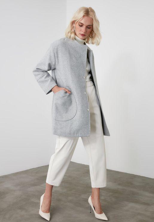 Pocket Detail Trench Coat