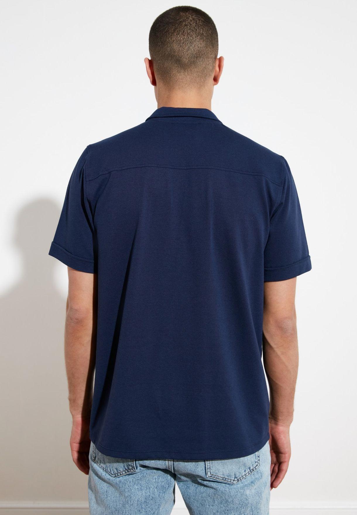 Regular Fit Zip Closure Shirt
