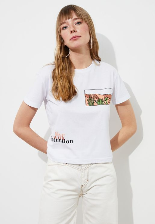 Printed Knitted T-Shirt