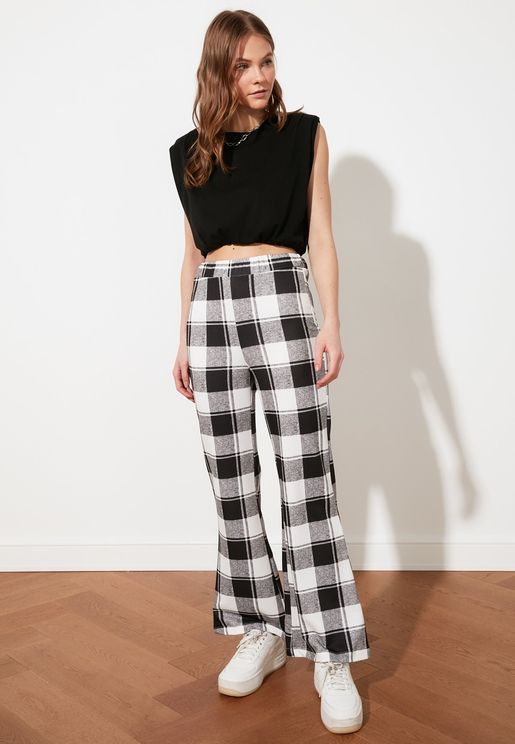 Printed Knitted Trousers