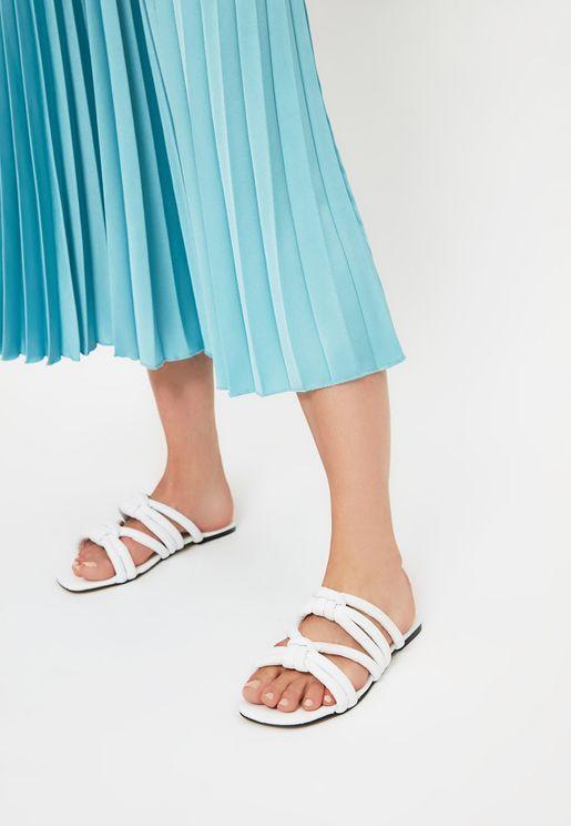 White Women'S Slippers