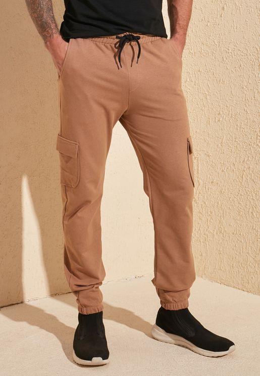 Drawstring Pocket Detail Sweatpants
