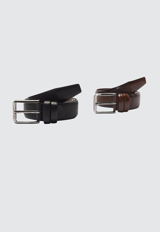 2 Pack Textured Belt