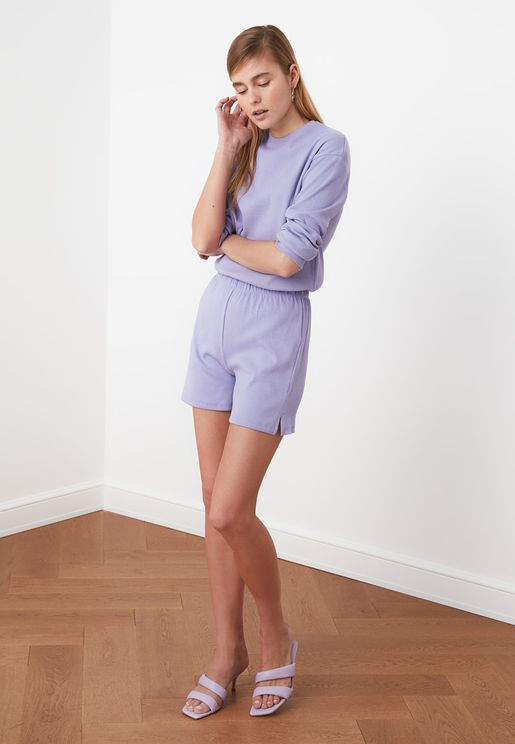 Knitted Top & Shorts Set
