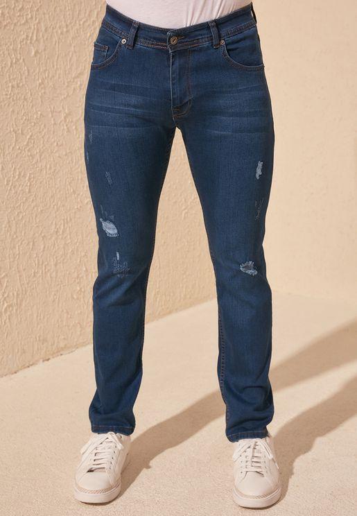 Distressed Skinny Fit Jeans