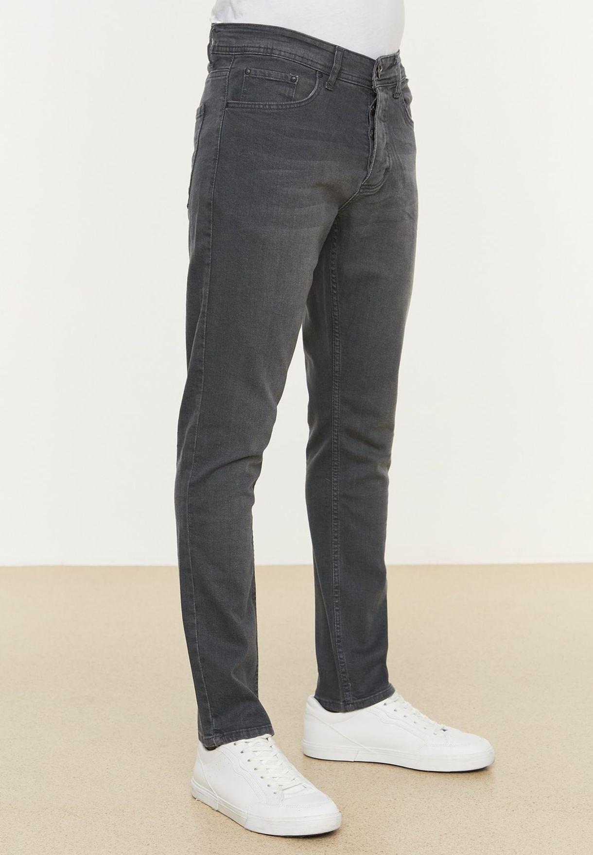 Light Wash Slim Fit Jeans