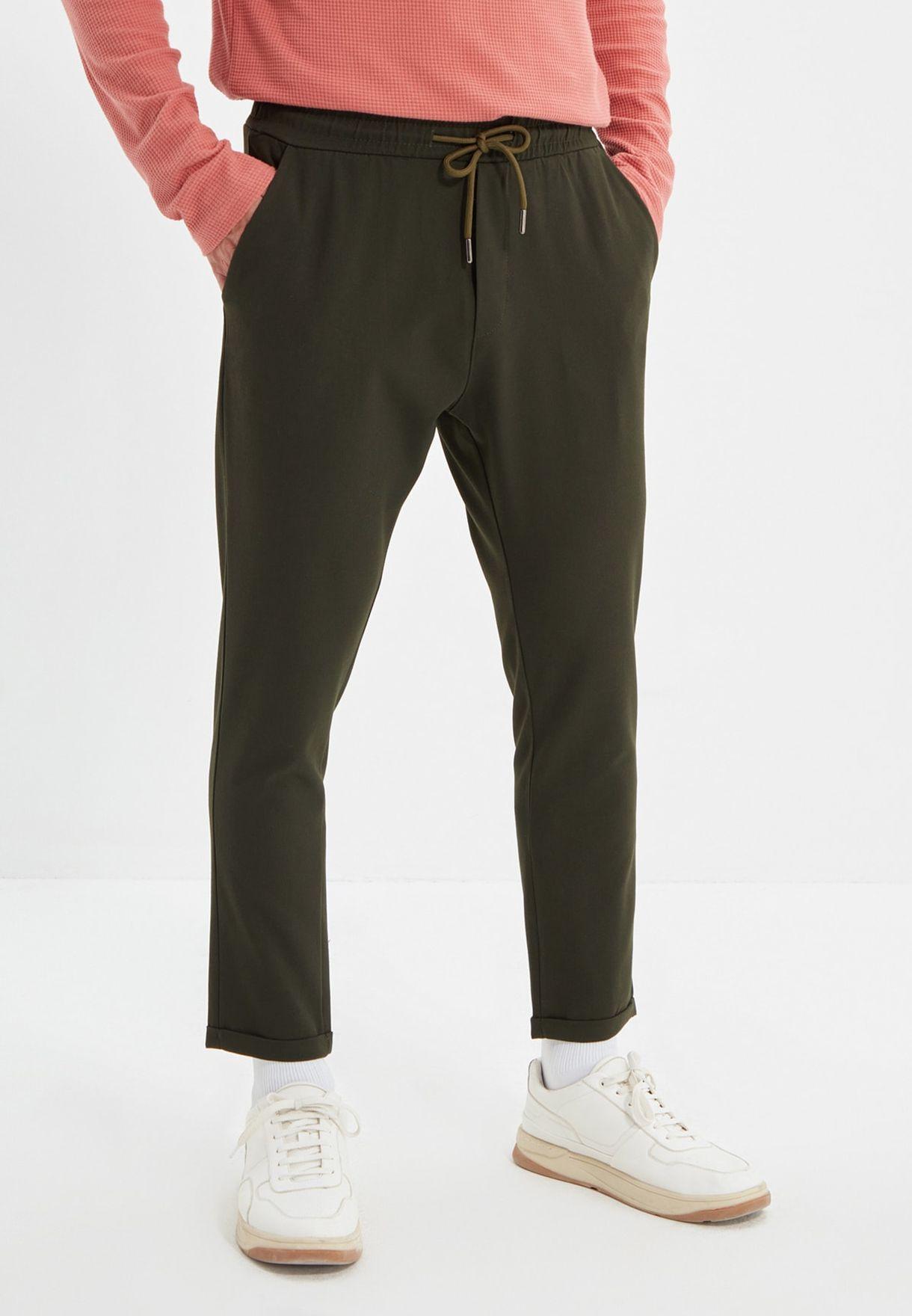 Drawstring Slim Fit Trousers