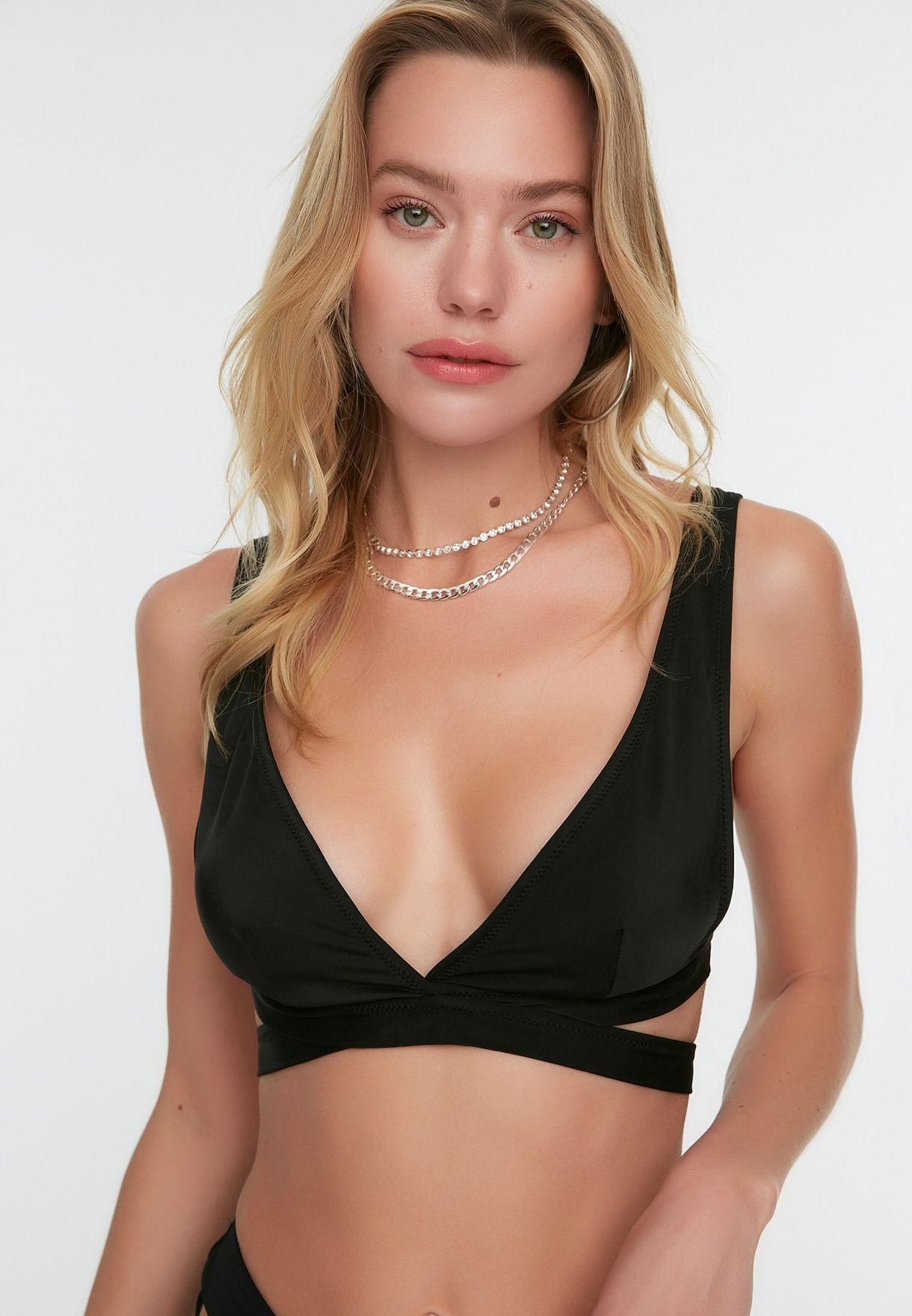 Cut Out Detail Bikini Top