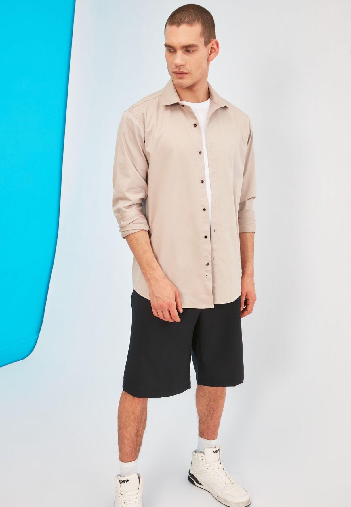 Back Print Regular Fit Shirt