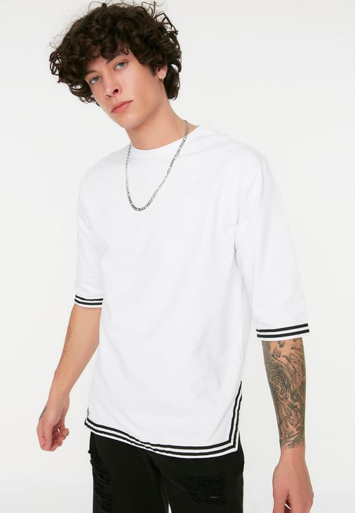 Tipped Short Sleeve Sweatshirt
