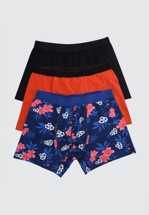3 Pack Assorted Trunks