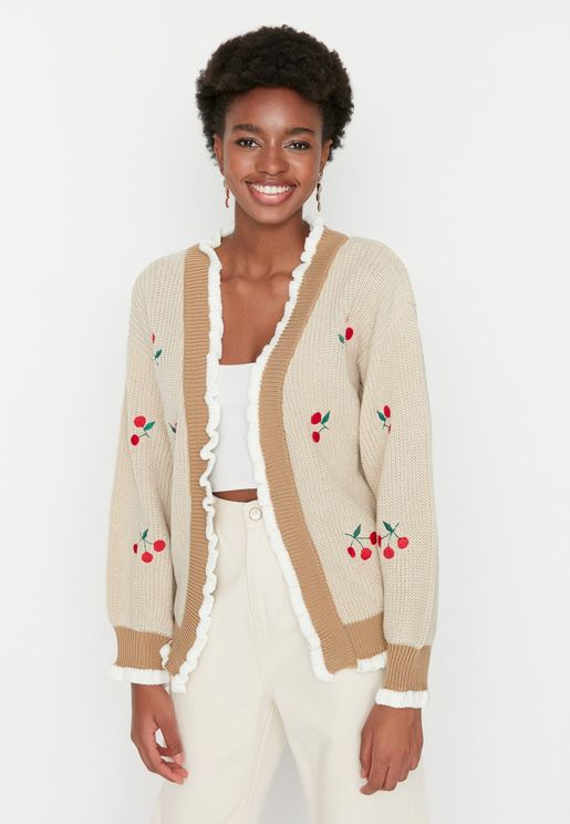 Classic Embroidered Knitwear Cardigan