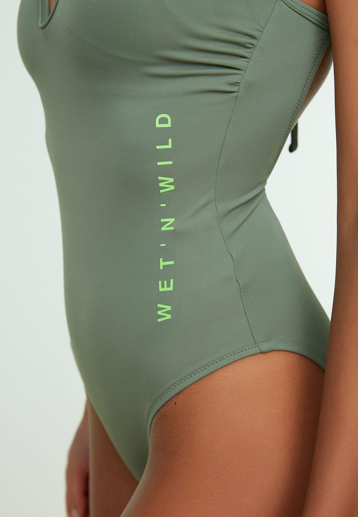 High Leg Knitted Swimsuit