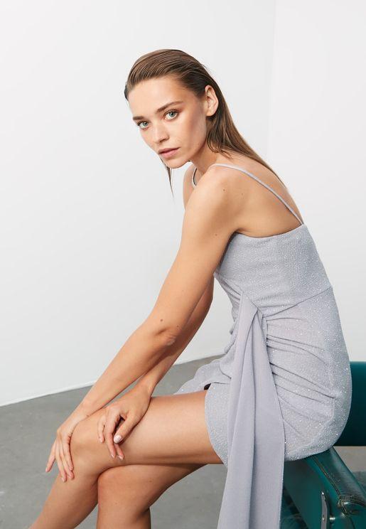 Shimmer Drape Dress