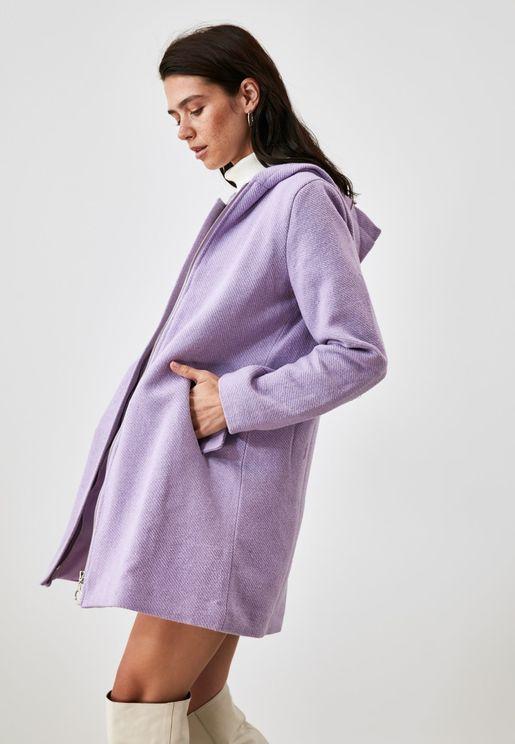hooded Full Zip Coat