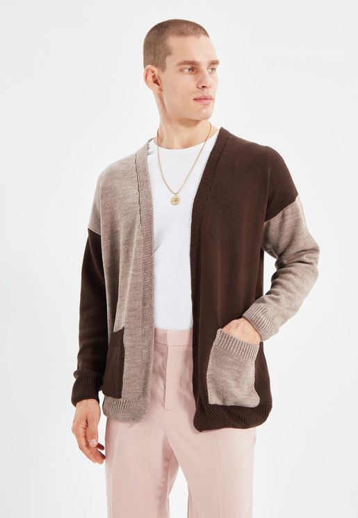 Color Block Knitted Cardigan