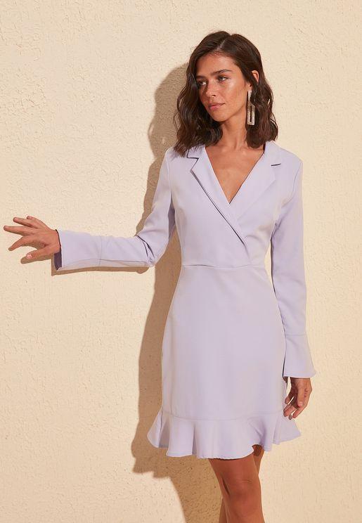 Peplum Blazer Dress