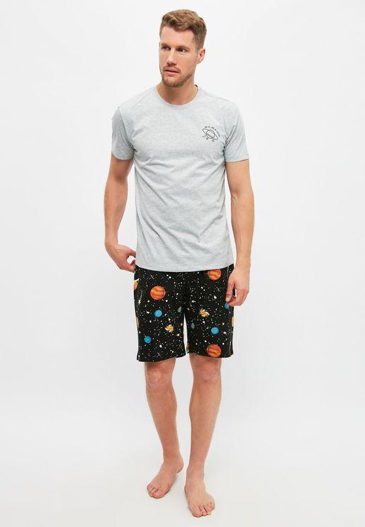Galaxy Print Pyjama Set